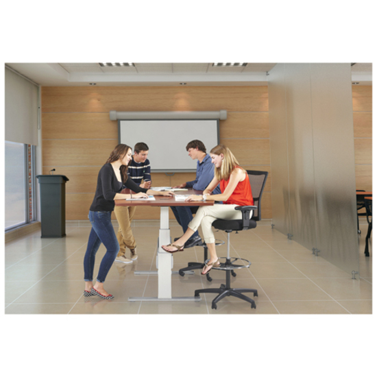 RAANXCTSH Ergonomic X Conference Table With Support - Conference table width