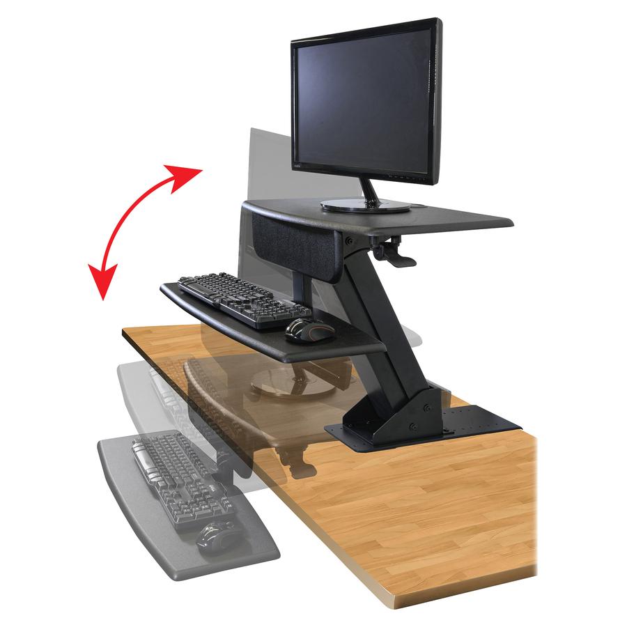Ktksts800 Kantek Desk Mounted Sit To Stand Workstation