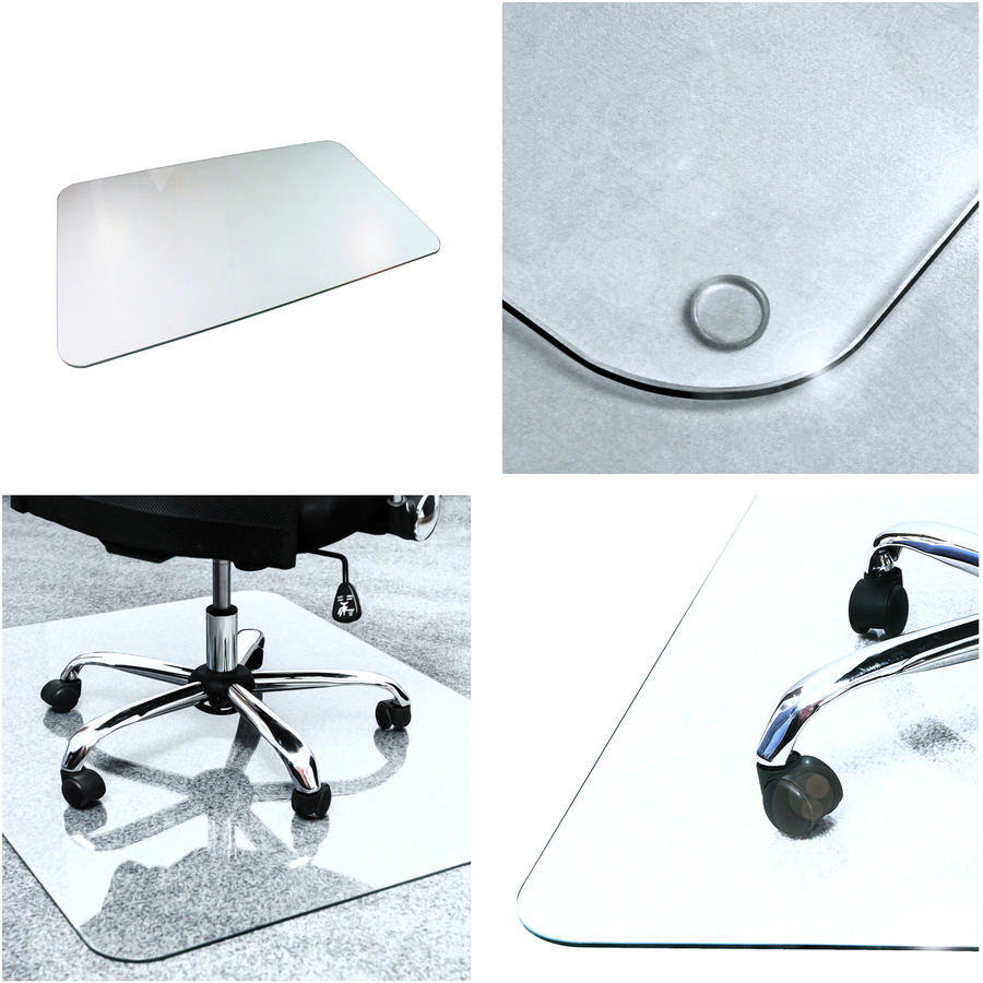 Cleartex Glaciermat Glass Chair Mat Hard Floor Home Office