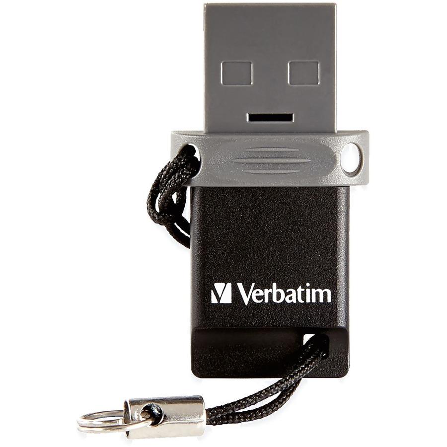 verbatim 32gb store 39 n 39 go dual usb flash drive for otg devices. Black Bedroom Furniture Sets. Home Design Ideas