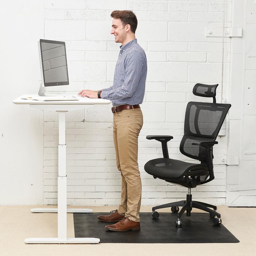 Deflecto Ergonomic Sit Stand Chairmat Workstation 60