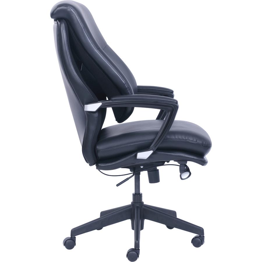 Marvelous Lorell Infinity Executive Chair Bonded Leather Black Seat Evergreenethics Interior Chair Design Evergreenethicsorg