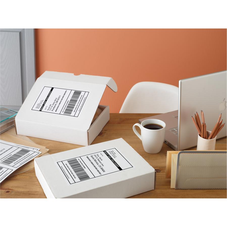 Inkjet Printers TrueBlock Permanent Adhesive 8126 Half Sheet Labels Avery Shipping Address Labels 50 Labels