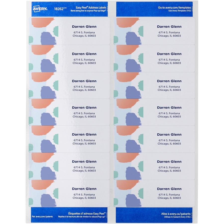 Avery 8162 White Easy Peel Address Labels, InkJet