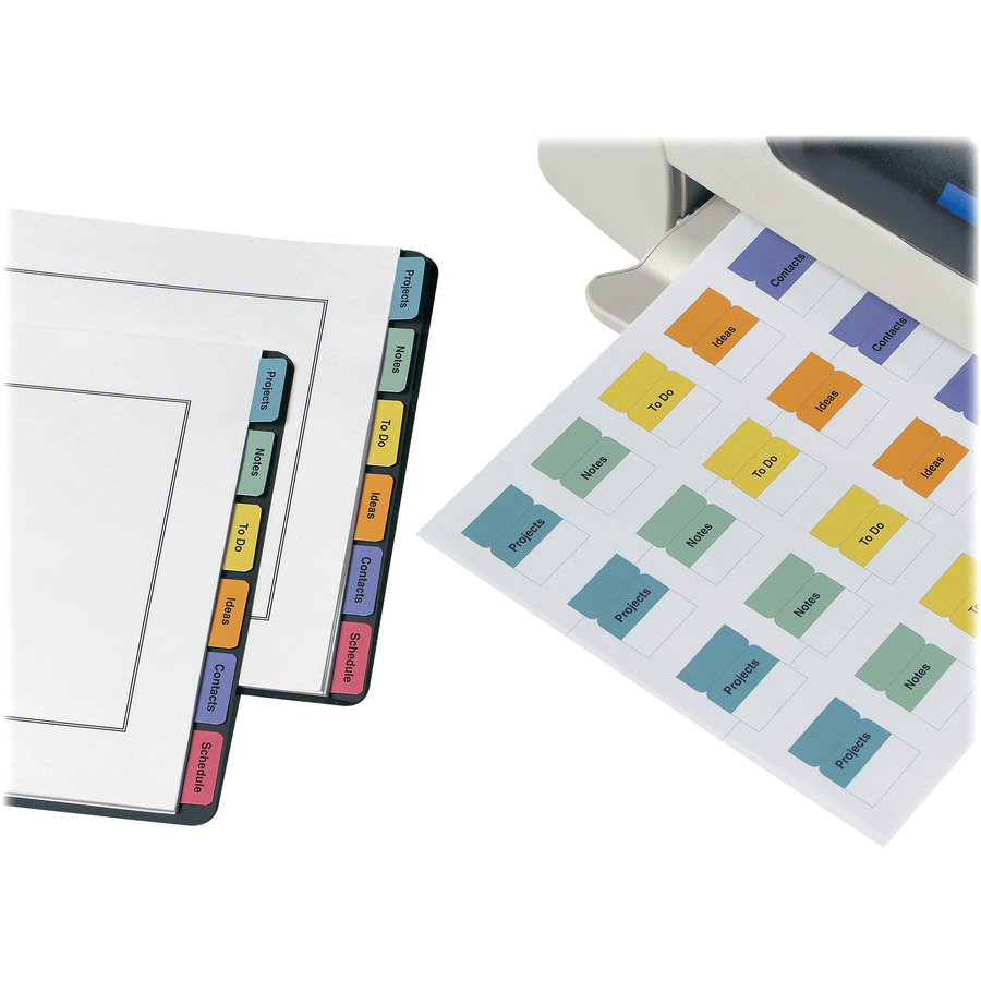 photograph about Avery Printable Tabs identified as Avery® Printable Self-Adhesive Tabs - Print-upon Tab(s)1.25