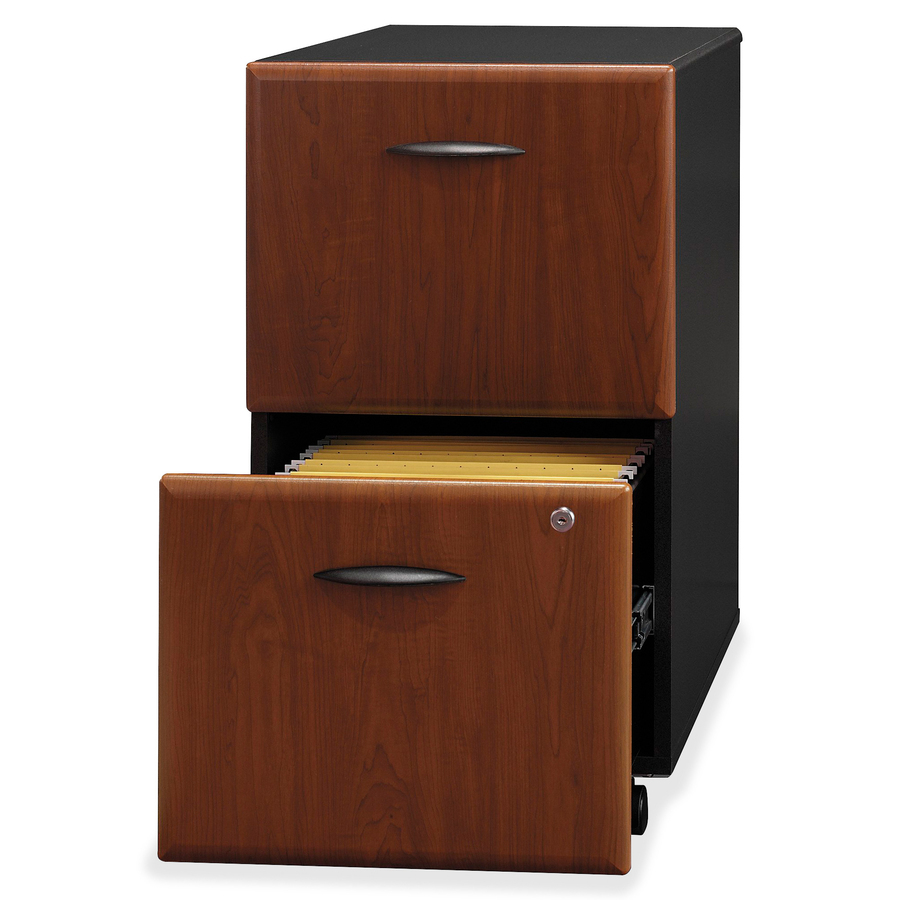 Bush business furniture series a 2 drawer mobile pedestal for Mobile furniture
