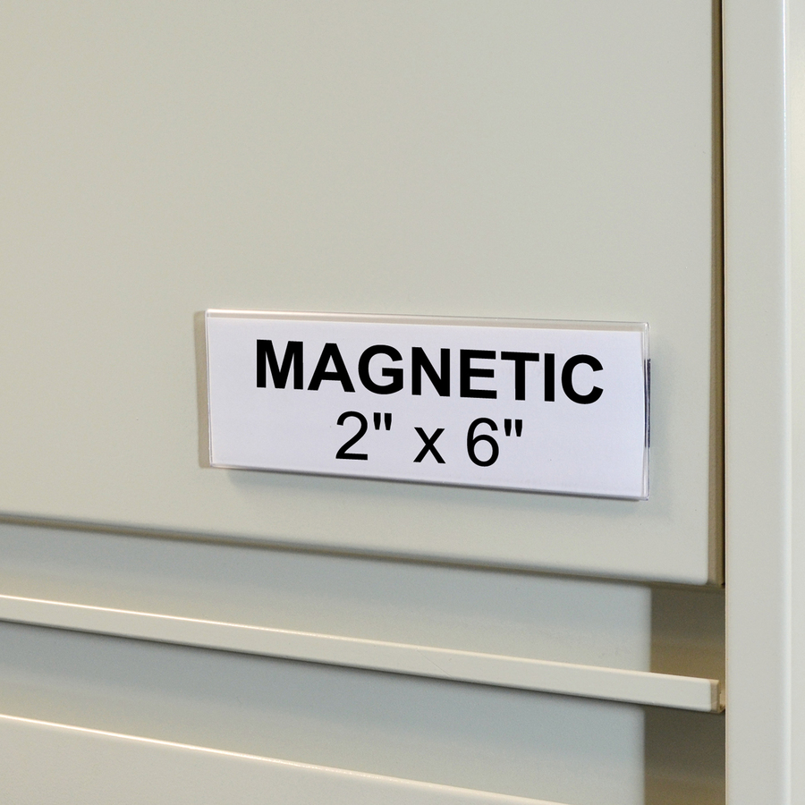 C Line HOL DEX Magnetic ShelfBin Label Holders
