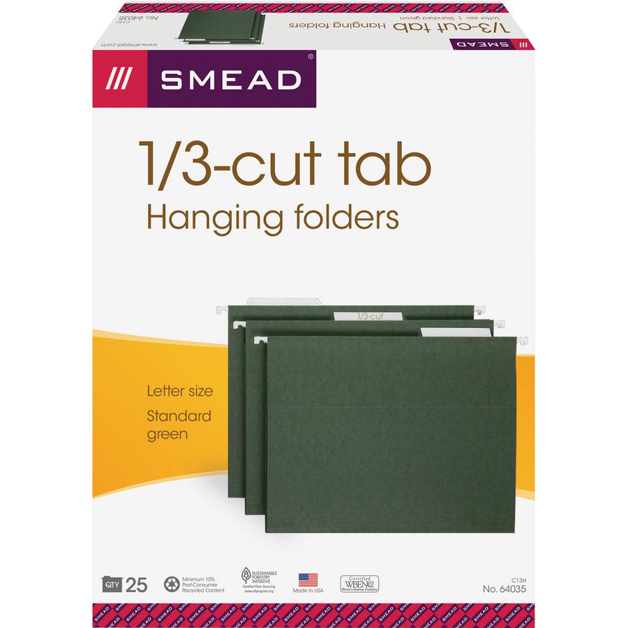 Smead Hanging Folders Letter 8 1 2 Quot X 11 Quot Sheet Size