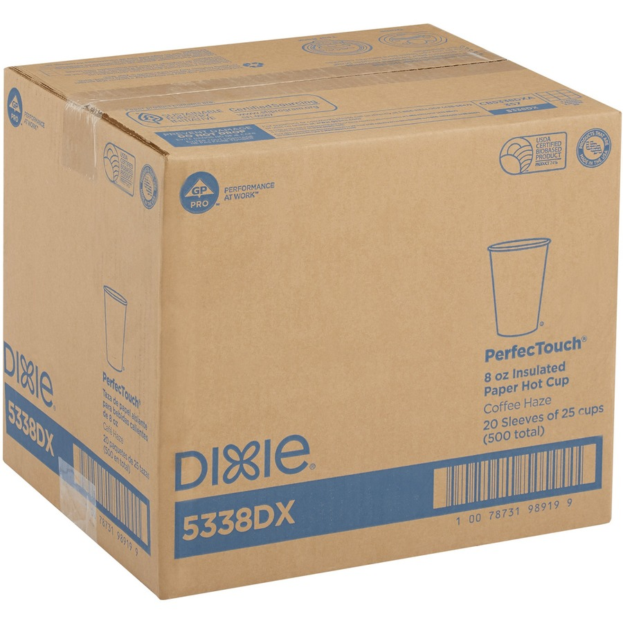 Wholesale Dixie Perfectouch Hot Cups Dxe5338dxct In Bulk