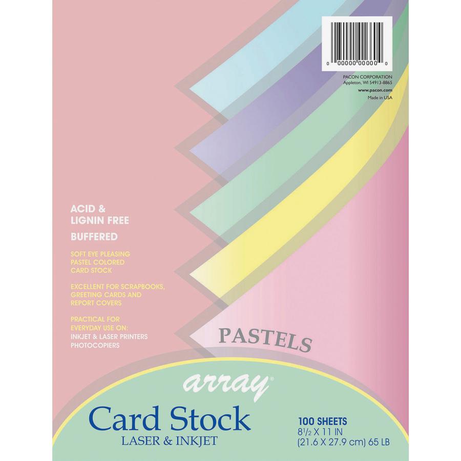 Pacon Printable Multipurpose Card Stock - Letter - 8.50\