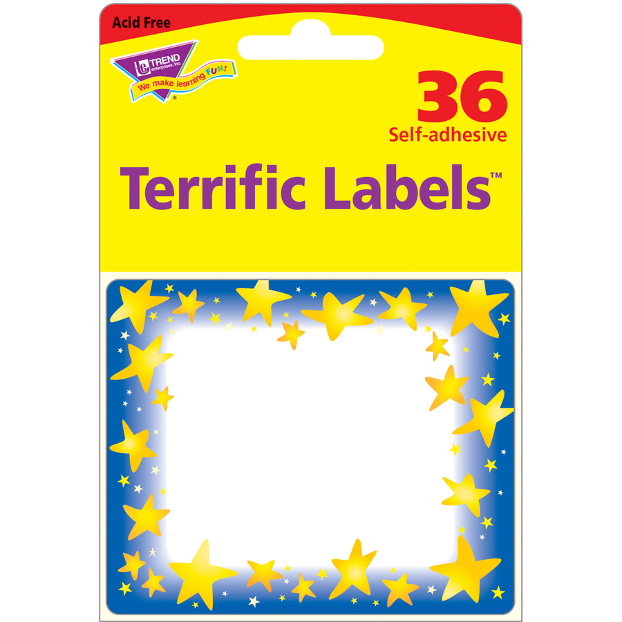 Trend Star Bright Self-adhesive Name Tags - 3