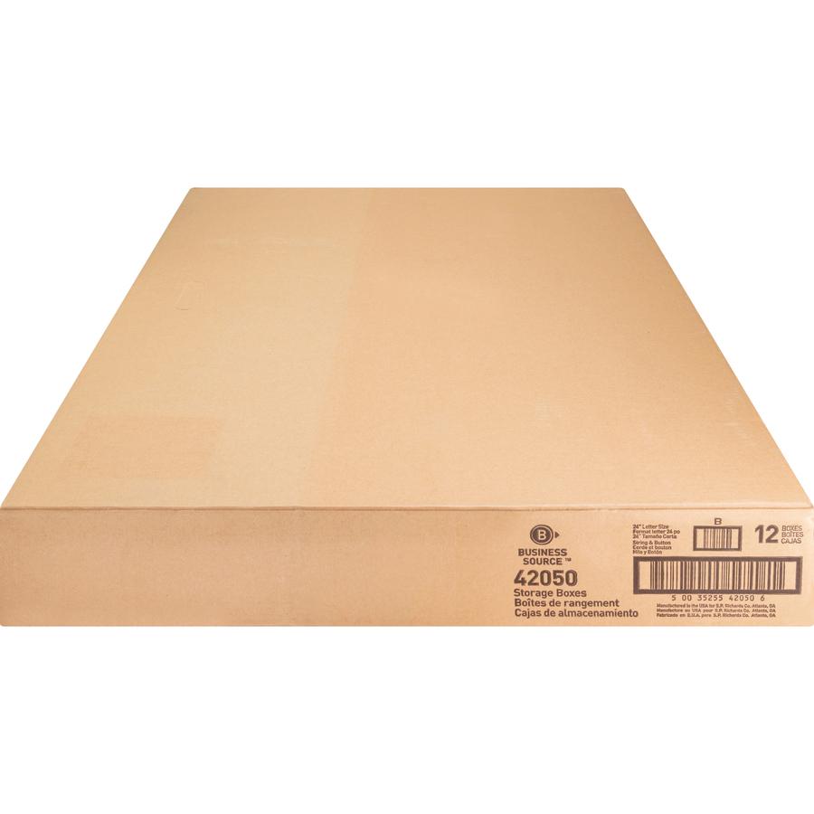 Business Source Light Duty Letter Size Storage Box - External Dimensions:  12
