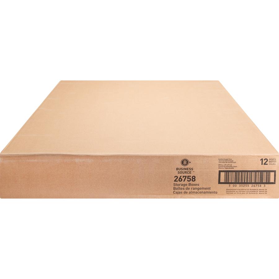 Business Source Lift-off Lid Medium Duty Storage Box - External