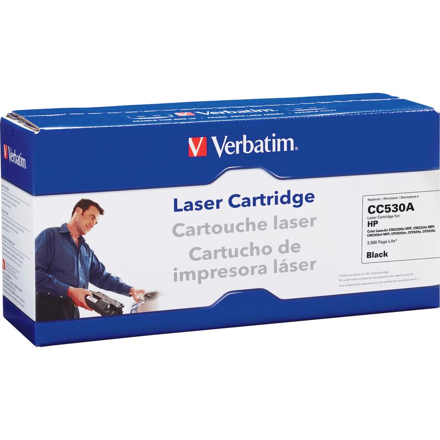 ver97485 verbatim remanufactured laser toner cartridge alternative for hp cc530a black. Black Bedroom Furniture Sets. Home Design Ideas