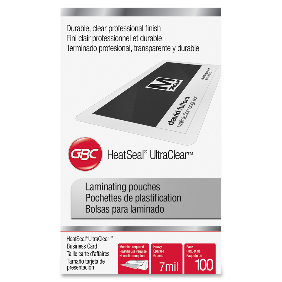 GBC® HeatSeal® UltraClear™ Thermal Laminating Pouches - Laminating ...