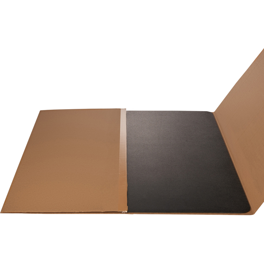 Deflecto Black Rectangular Smooth Edge Chairmats