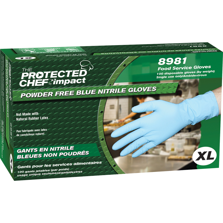 Protected Chef Nitrile General Purpose Gloves - X-Large Size
