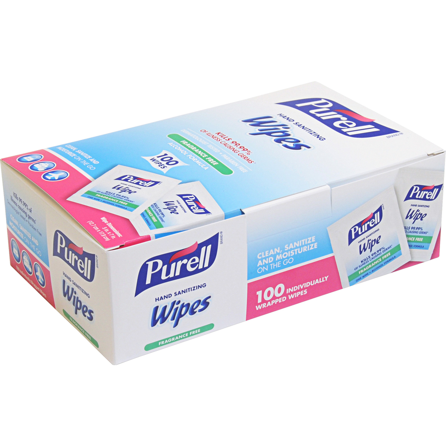 PURELL® On-the-go Sanitizing Hand Wipes - Ethyl Alcohol