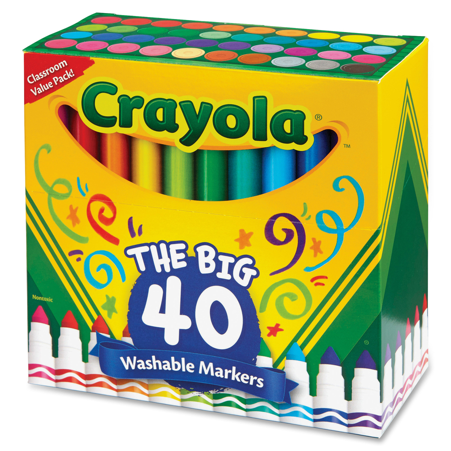 Crayola 40 Count Ultra Clean Washable Broad Line Markers