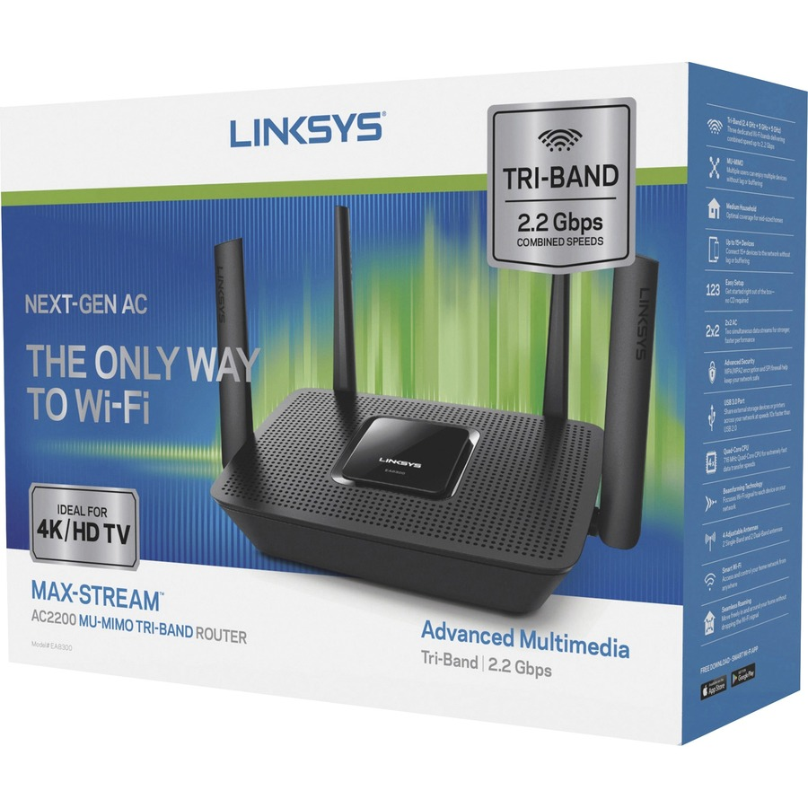 Linksys Max-Stream EA8300 IEEE 802 11ac Ethernet Wireless Router