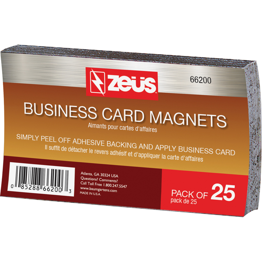 Zeus magnetic business card zeus magnetic business card 3 12 x 2 0 recycled content 25 pack black colourmoves
