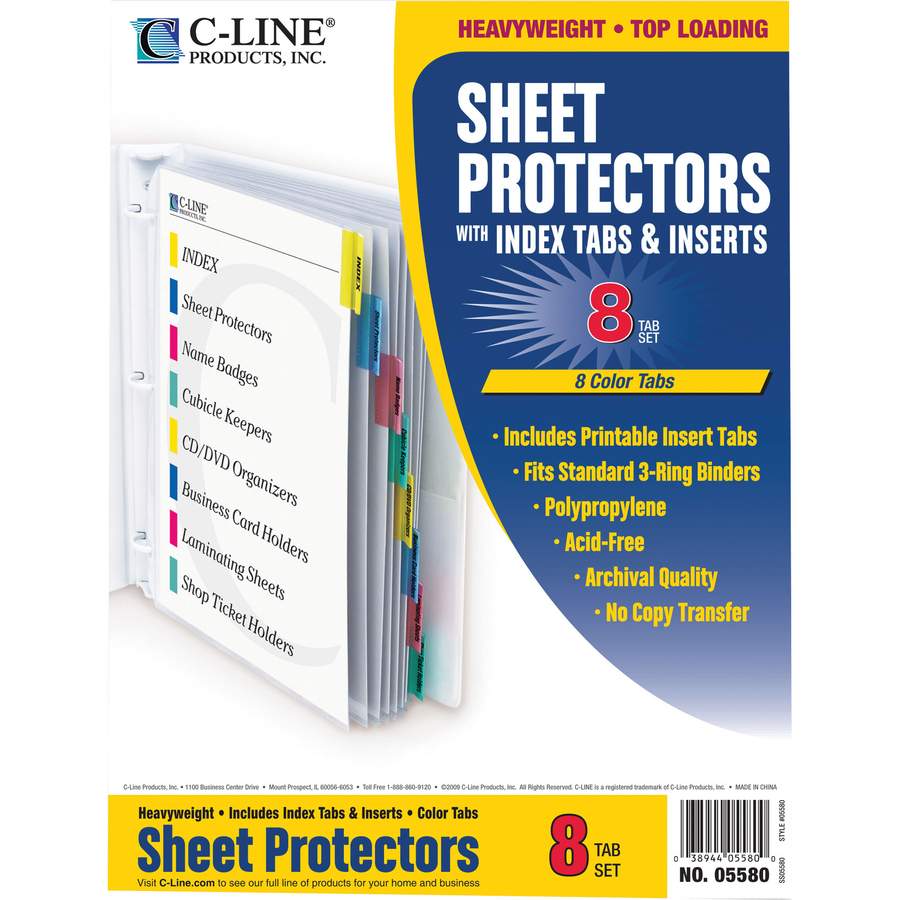 CLI05580 C-Line Top Loading Sheet Protector | Office Advantage
