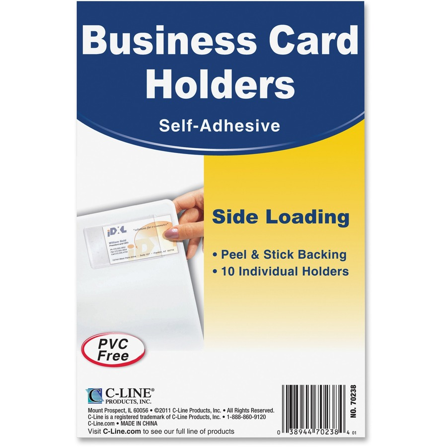 C Line 70238 C Line Self Adhesive Business Card Holder Cli70238