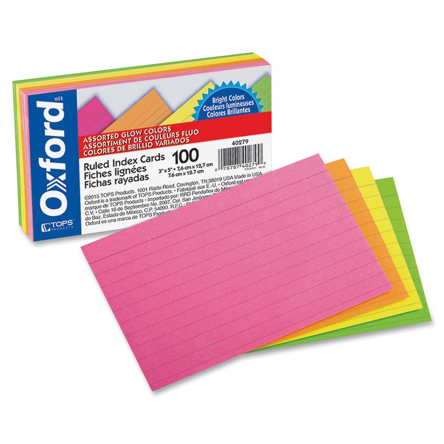 Oxford Printable Index Card - 3\
