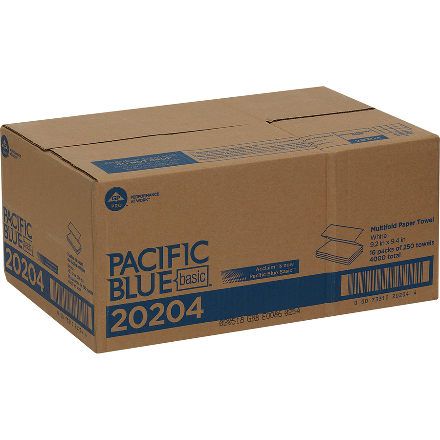 pacific blue basic multifold paper towelsgp pro