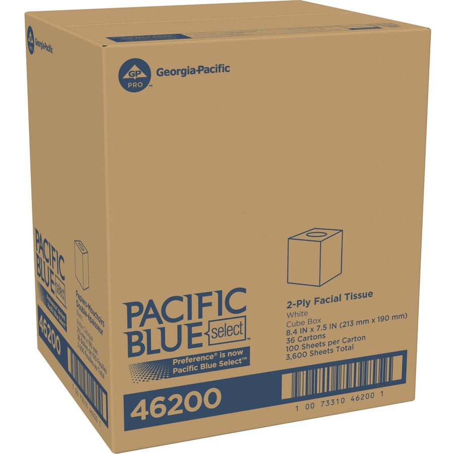 Bulk Georgia Pacific Preference Cube 2ply Facial Tissue