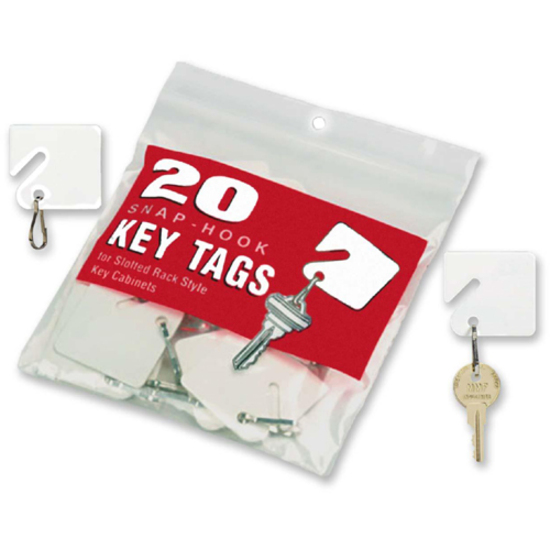 MMF White Plastic Key Tags