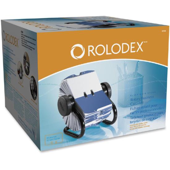 Rolodex 67236 rolodex rotary business card file rol67236 rol rolodex rotary a z index business card files 400 business card 24 printed black colourmoves