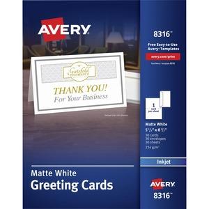 avery reg 8316 avery greeting card 8 1 2 x 5 1 2 matte 30