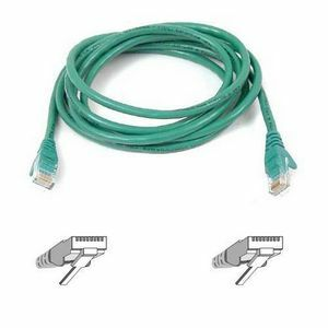BELKIN 10FT CAT5E GREEN ASSEMBLED RJ45M/M PATCH CABLE