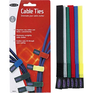 Belkin Cable Ties 8 Inch - Black - 1 Pack
