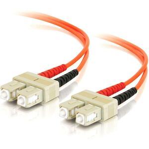 2m SC-SC 62.5/125 OM1 Duplex Multimode PVC Fiber Optic Cable | Orange