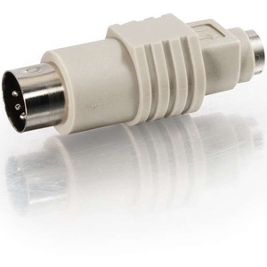 C2G PS/2 Female to AT Male Keyboard Adapter - 1 x Mini-DIN (PS/2) Female - 1 x DIN Male -
