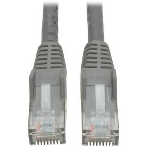 Tripp Lite 5ft Cat6 Gigabit Snagless Molded Patch Cable RJ45 M/M Gray 5'