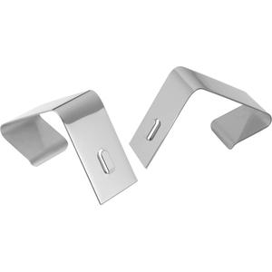 Quartet Cubicle Partition Hangers - 2 Hangers - for Board, Cubicle - Silver - 2 / Set