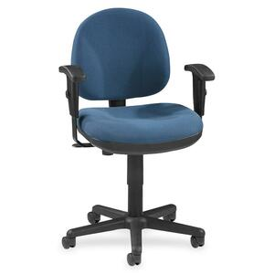 Lorell Millenia Pneumatic Adjustable Task Chair - Blue Seat - 1 Each