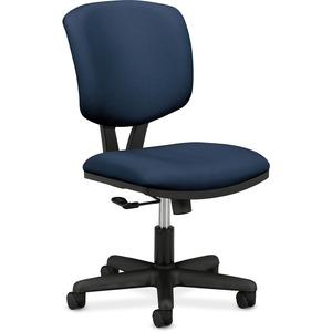 HON Volt Task Chair, Navy Fabric - Blue Fabric Seat - Black Frame - 5-star Base - Blue - Composite Wood - 1 Each