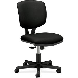 HON Volt Task Chair, Black Fabric - Black Fabric Seat - Black Frame - 5-star Base - Black - 1 Each