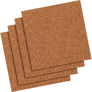 Quartet Frameless Modular Natural Cork Tiles - 12