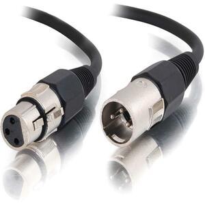 Audio cable - 3 pin XLR - Male - 3 pin XLR - Female - 12 feet - Black - Shielded