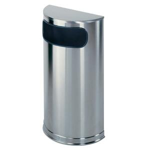 Rubbermaid Commercial Half Round Steel Receptacles - 9 gal Capacity - 32