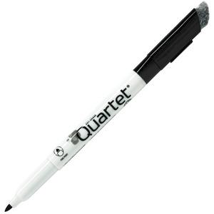 Quartet Classic Dry-Erase Markers - Fine Marker Point - Bullet Marker Point Style - Black - 12 / Dozen