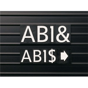 Quartet Letter Board Characters - 128 (Character) Shape - Magnetic - Helvetica Style - 1