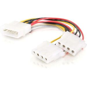 C2G 14in One 5-1/4in to Two 5-1/4in Internal Power Y-Cable