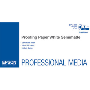 Commercial Proofing Paper -  White Semimatte for Select Epson Printers - 24in x