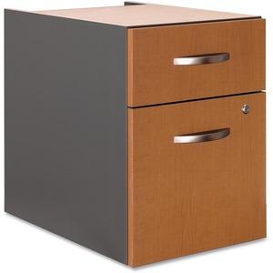 Bush Business Furniture Series C2 Drawer 3/4 Pedestal - Assembled in Natural Cherry - 15.5